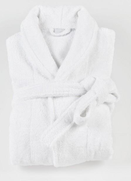 Peignoir zen blanc coton